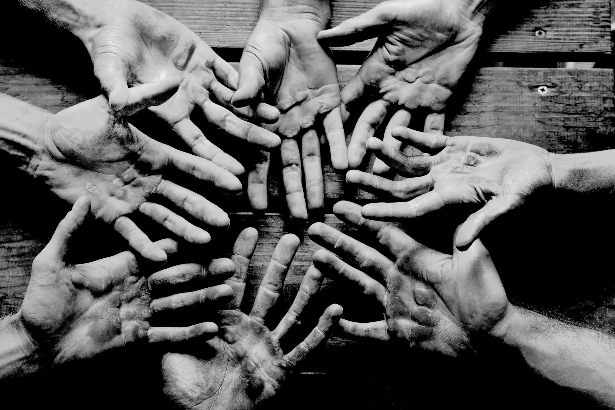 """""""hands of pain"""" 2012_Hände des Deutschlandachters"""