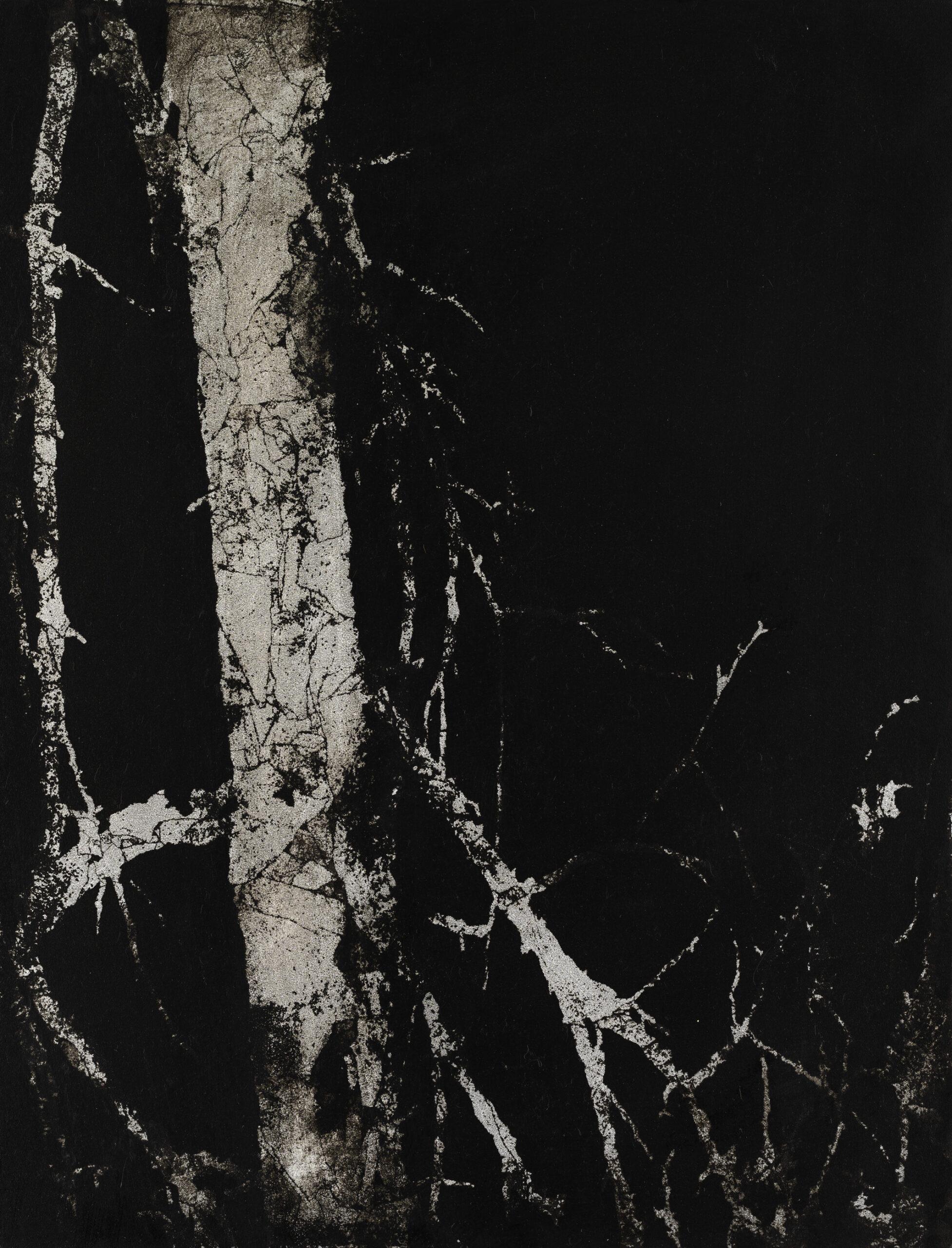 Untitled 2015, Acryl und Blattaluminium auf Holz 60 x 46 cm