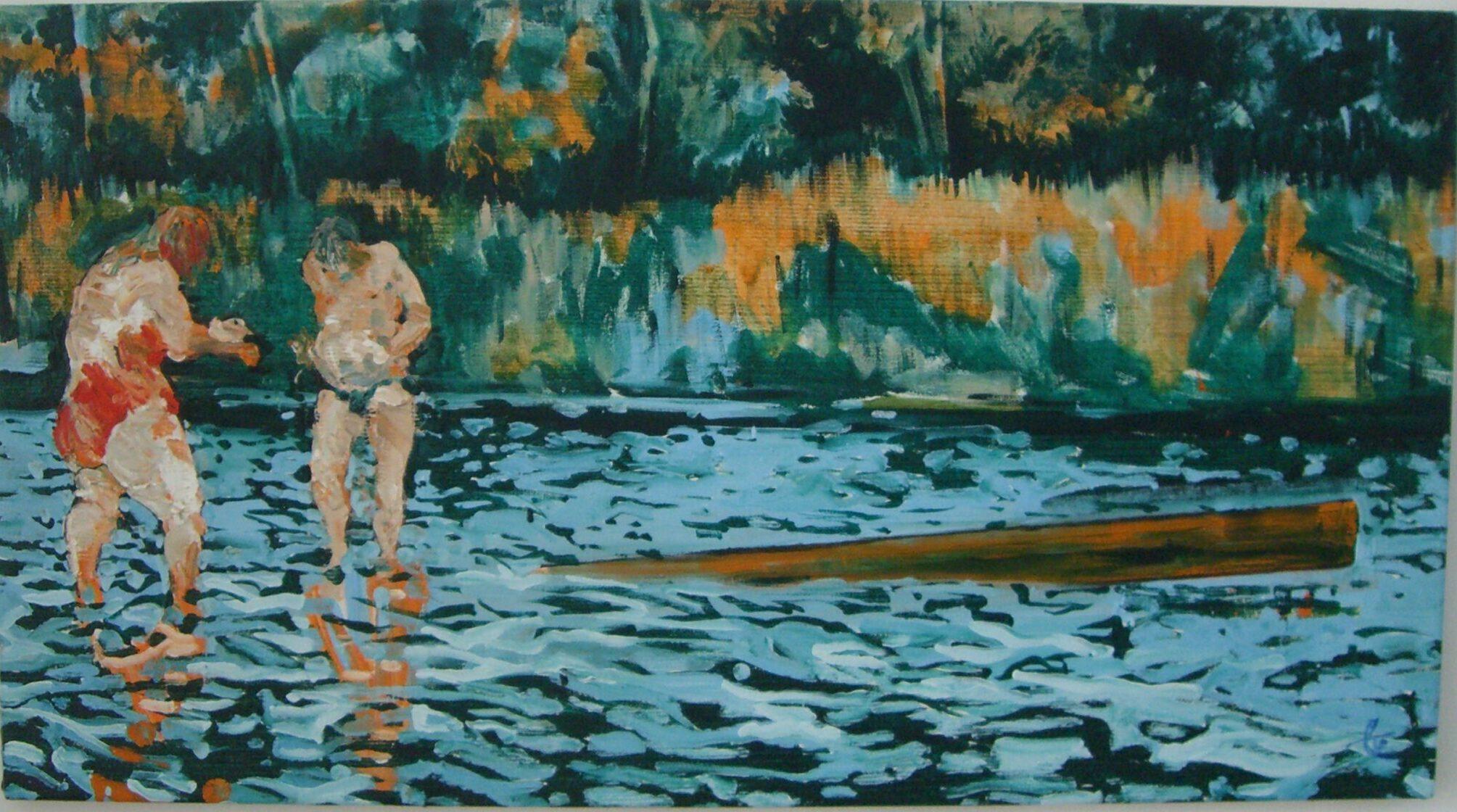 Ringelreihen, 2012 Öl auf Leinwand 220x180 cm