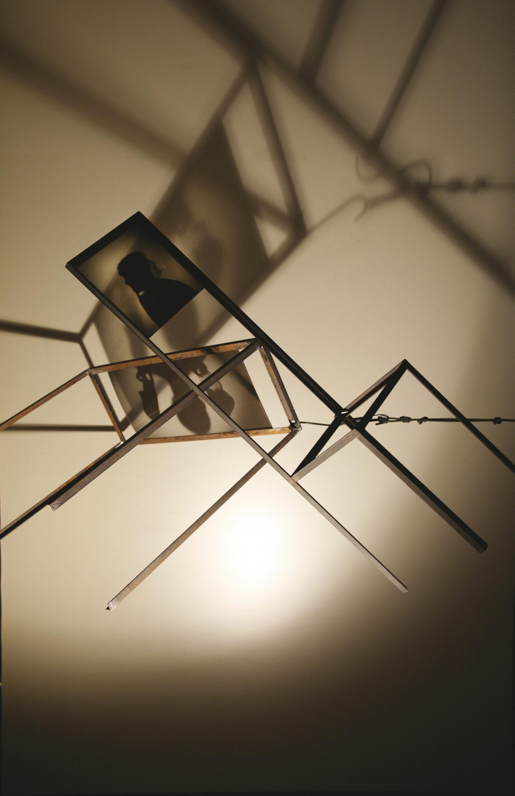 Schattenjongleur, 2008/12, Metall Plexi