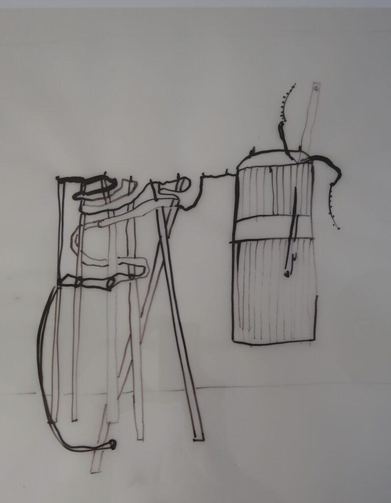 Zaun, 2015, Zeichnung auf Papier
