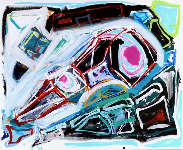 Brunhilde 90 x 110 cm oil and acrylic on Canvas 2011