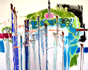 TITELLOS 12120 x 150 cmacrylic on Canvas2009