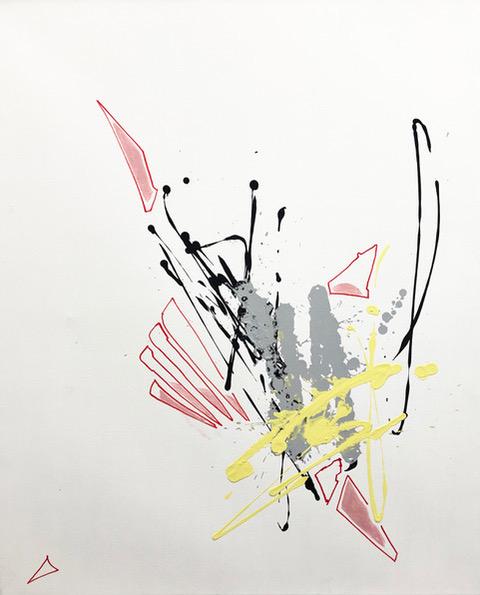 Ikarus II acryl on Canvas 110 x 90 cm 2014